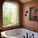 Beautiful Stained Glass For Your Bathroom
