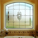 New Orleans Bathroom Stained Glass Windows