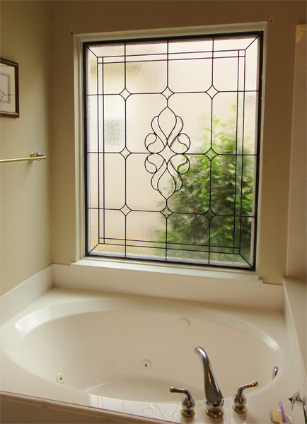 bathroom stained glass austin