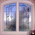 Bathroom Stained Glass Beveled Windows - BSG 11