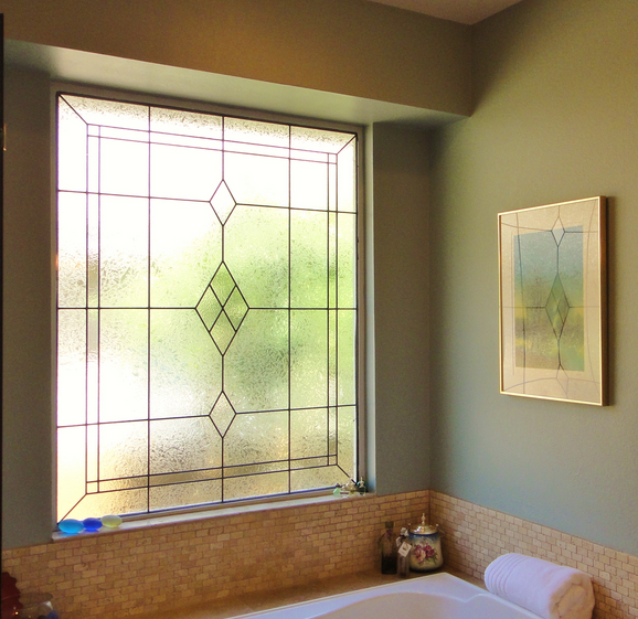 Beautiful stained glass for your bathroom Bathroom vanities dallas fort worth