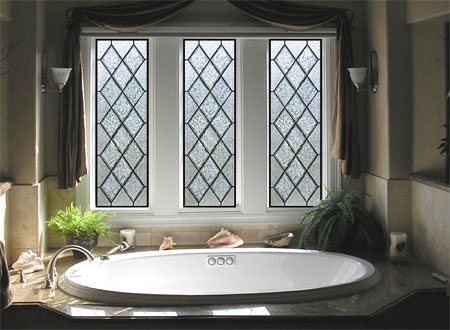 Bathroom Stained Glass Dallas. Beautiful Stained Glass for Bathrooms