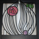 Charles Rennie Mackintosh Stained Glass Door Panel