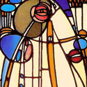 Charles Rennie Mackintosh Stained Glass Panel