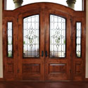 Salt Lake City Utah Traditional Entryway Door Stained Glass - SGE 3
