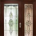 Celtic Entryway Stained Glass Door & Sidelight