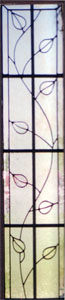 Floral Stained Glass Sidelight - SGSL 10