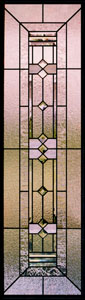 Prairie Style Stained Glass Sidelights - SGSL 7
