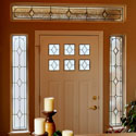 Contemporary Entryway Stained Glass Door Sidelights