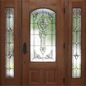 New Orleans Entryway & Sidelight Stained Glass Windows