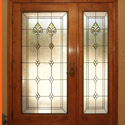Salt Lake City Utah Entryway Stained Glass Door