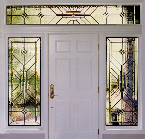 custom designed stained glass for entryways