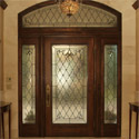 Entryway Stained Glass Transom Sidelights Door - SGE 12