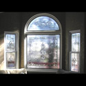 Family Room Stained Glass Transom