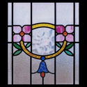 Floral Kitchen Stained Glass Window