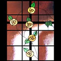 Floral Stained Glass Cross