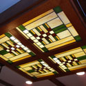 Prairie Style Stained Glass Ceilings