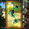 Grape Stained Glass Panel