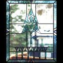Kitchen Stained Glass Abstract Trees