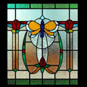 Butterfly Mackintosh Stained Glass