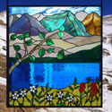 Mountain Stained Glass Panel