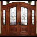 Leaded Glass Entryway Doors