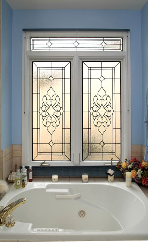 Bathroom Window Stained Glass   BSG 4