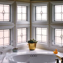 Bathroom Stained Glass Window Panel