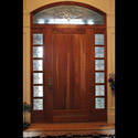 Salt Lake City Utah Stained Glass Entryway Sidelight Panels & Transom