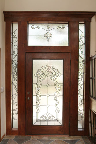 Custom stained glass for your doors for Custom transom windows
