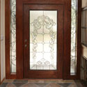 Ogden Stained Glass Entryway Door