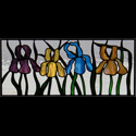 Stained Glass Iris Flowers