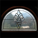 Bathroom Stained Glass Transom Window