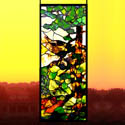 Natural Stained Glass Panel