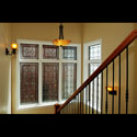 Transom Stained Glass Privacy Windows
