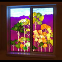 Basement Stained Glass Colored Window