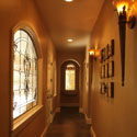 Hallway Stained Glass Windows