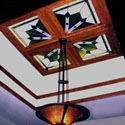 Commercial Stained Glass Ceiling Design