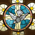 Religious Stained Glass Dove