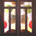 Retail Stained Glass Doors
