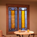 Window Well Custom Stained Glass