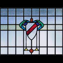 Antique Family Crest Stained Glass Designs