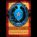 Stained Glass Family Crests Texas