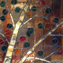 Aspen Stained Glass Colored Trees