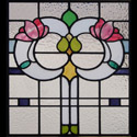 antique stained glass flower windows