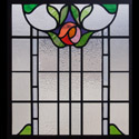 Antique Stained Glass Mackintosh Rose
