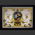 Antique Painted Stained Glass Woman