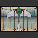 Antique Stained Glass Bird