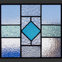 Antique Stained Glass Geometric Patterns