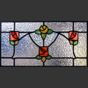 Antique Stained Glass Mackintosh Roses
